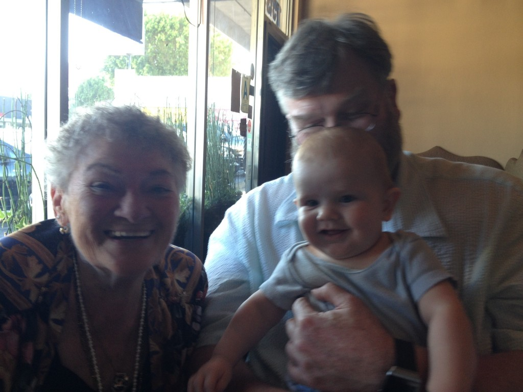 Mu husband Jim, my great nephew Graham and my beloved Tante Anni