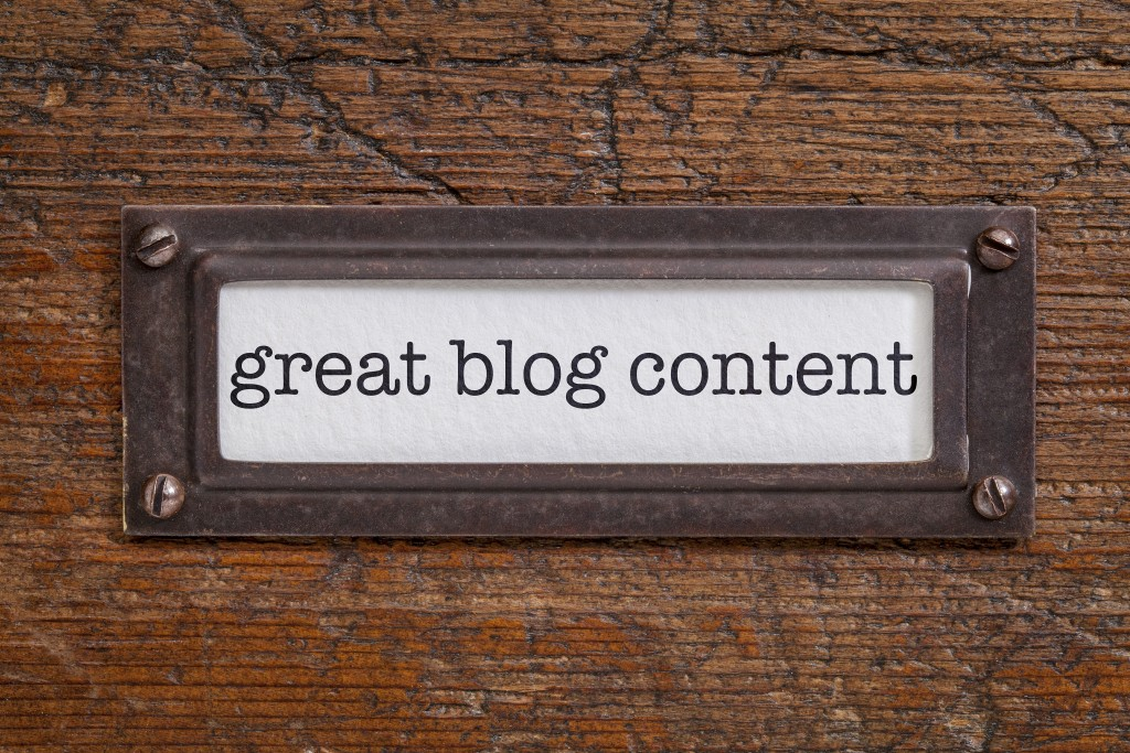 great blog content label
