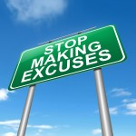 Stop excuses concept.