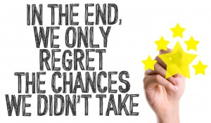 Hand writing: In The End We Only Regret the Chances We Didn't Take
