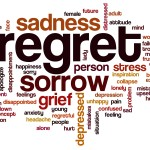 Regret word cloud concept